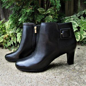 new 8 M ROCKPORT Leah leather ankle boots bootie
